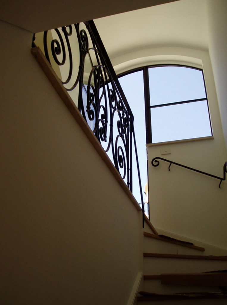 custom wrought iron hand rails restorations and frabrication