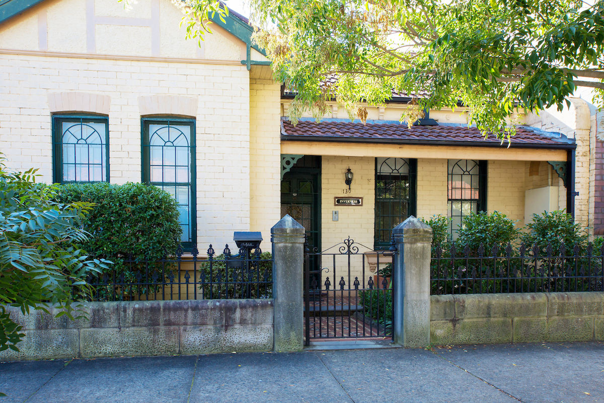 Stanmore iron gate and iron fence restoration of heritage terrace