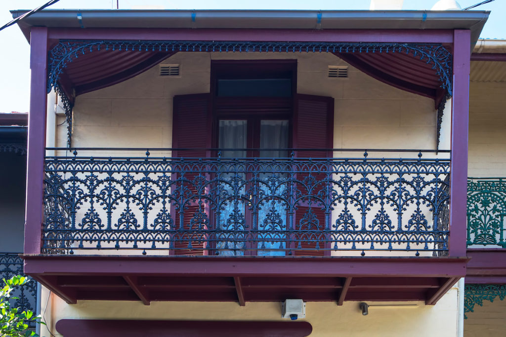 Glebe Balcony Restoration including wrought iron palisade fence