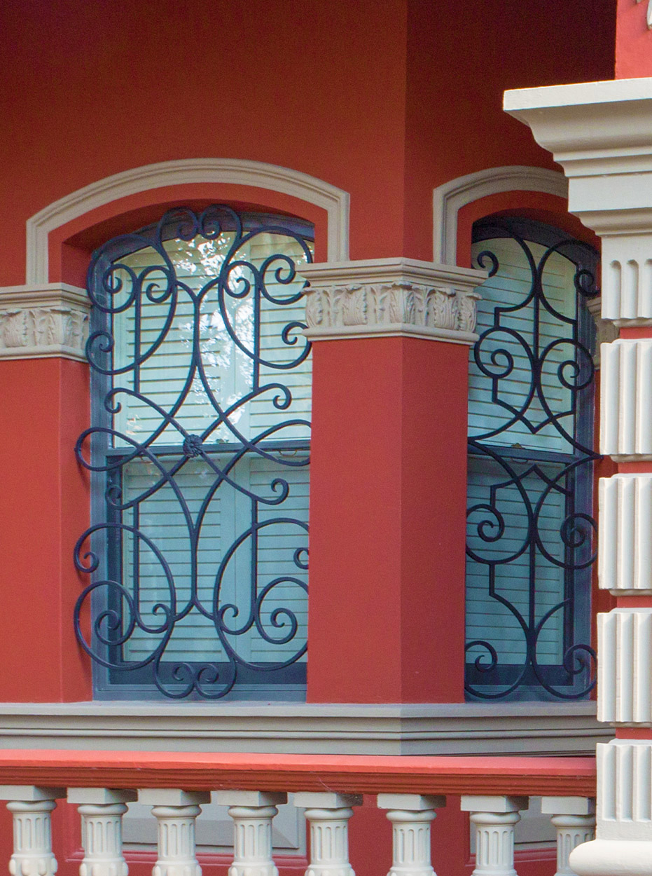 Newtown Sydney heritage wrought iron front door and window grill