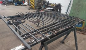 Wrought iron gate assembly