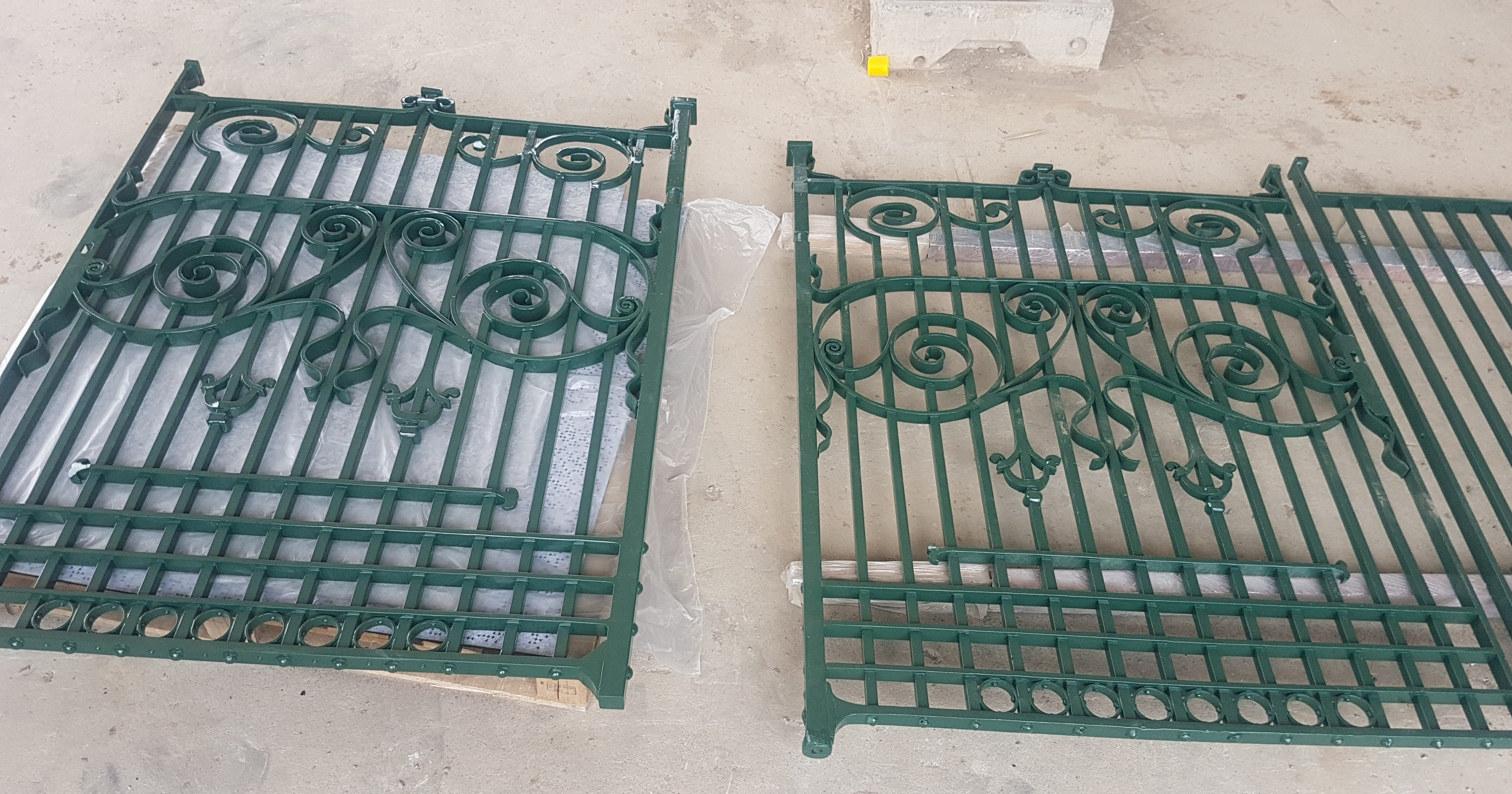 Finished wrought iron gates