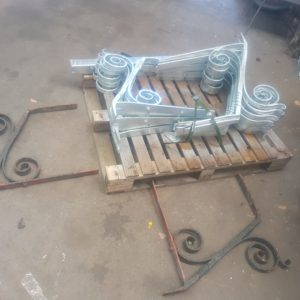 Wrought iron brackets - unpainted